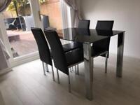 Dining table x 4 chairs
