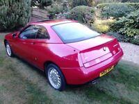 Alfa Romeo GTV 2.0 Twin Spark, Low mileage, Alfa Red with Black cloth interior, long MOT