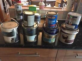 Various tins of household paint for sale from £1