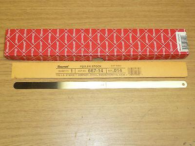 New Starrett 667-14 Thickness Gauge Feeler Stock .014