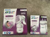 Philips avent natural set manual breast pump and bottle set