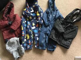 Bundles boys coats 12-18 months