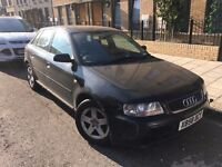 2001 Audi A3 black (some minor damage to bumper and wing mirror)