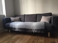 H&M GREY COVER plus TWO grey cushions