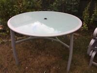 Glass garden table