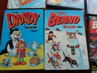 comic book annuals, Beano, Dandy, Battle, Warlord & a Football annual 1979-1984