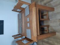 Harveys extending table and leather chairs new