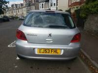PEUGEOT 307 ,1.6 ,BIG BOOT ,LONG MOT, SERVICE HISTORY, CHEAP ON TAX ,£595 ONO