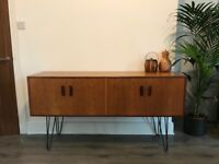 Retro mid century modern vintage Gplan sideboard with hairpin legs
