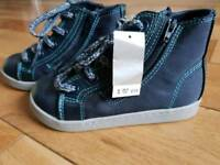 Size 8 Boys/infant Next high tops- brand new with tags