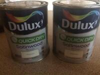 NEW Dulux Quickdry Satinwood Paint x 2!