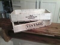 WOODEN CRATES LONG VEG. TRAY STYLE