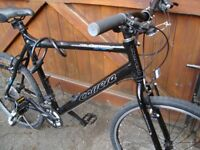 CARRERA SUBWAY 1 HYBRID BIKE BLACK REAR WHEEL GEARS DAMAGED HENCH SPARES OR REPAIR COST £300 £50