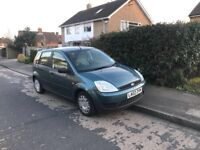FORD FIESTA 1.4 TDCI DIESEL MANUAL 2002-REG LONG MOT CHEAP DIESEL CAR