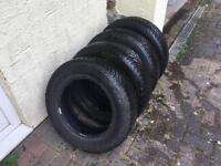 4x Continental Winter Contact Snow/ Winter tyres. Size 195/65 R15