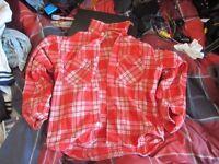 - Levi's red Checked/Tartan shirt - MEN'S LARGE -