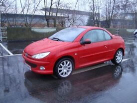 Peugeot 206 cc Convertible Hard Top Coupe At Par Tigra Astra Mini Fresh 1 Y MOT Leather Can deliver