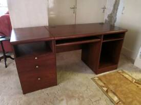'Alstons' Mahogany Desk and Drawer Unit in good condition