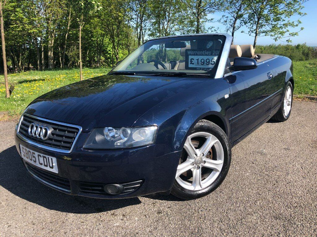 2005 05 Audi A4 Cabriolet 1 8t August 2018 M O T Full Leather Interior Good Example