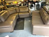 Large leather corner sofa