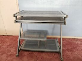 Metal Computer Laptop Trolley Desk COLLECTION ONLY