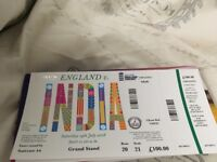 India vs England 14th July LordsLondon Cricket tickets Grand Stand