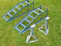 Car ramps and axle stands