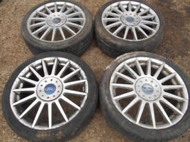 """17"""" GENUINE FORD ST ALLOY WHEELS / TYRES"""
