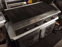 BRAND NEW CHARCOAL GRILL RESTAURANT KITCHEN SHOP 120 CM LONG COMMERCIAL FASTFOOD TAKEAWAY CATERING