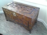 Ornately Carved Chinese Chest / Trunk