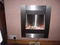 Electric fire.Wall mounted.Monet contemporary electric fire.