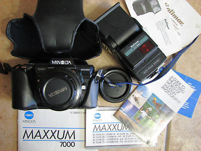 Konica Minolta Maxxum 7000 Film Camera with Manual