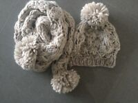 Fat Face Scarf And Hat, New And In Excellent Condition