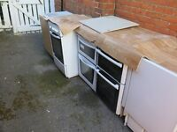 job lot of free standing cookers and built-in freezer fridges