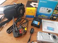 Sony cybershot camera and lexar 128mb memory stick