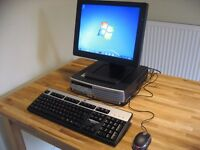 As New Hp Compaq Mini PC with Monitor, 2.8 GHz, Wi-Fi, Windows 7.