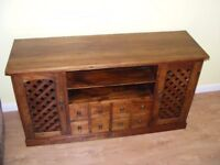 CAN DELIVER - VERY RARE ROSEWOOD SHESHAM INDIAN 100% HARDWOOD SIDEBOARD IN VGC