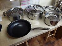 Raymond Blanc Anolon Stainless Steel Saucepans Saute pans Casseroles & Stockpots
