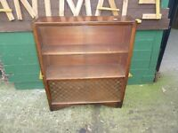Dark wood Bookcase with Glass Slide Doors Shabby Chic Project Delivery Available £15