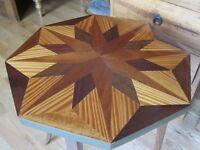 Ornate Side Table / tea table wood inlay Hand made
