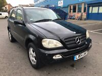 Mercedes ML 270 Diesel 2004 One Previous Owner WITH ONE YEAR MOT
