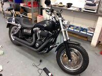 Harley Davidson FAT bob 2010 full service history 12 mot £8350. Ono