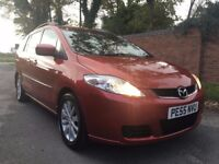 2005 EXCELLENT CONDITION MAZDA 5 TS2 1.8CC, 7 SEATS,SERVICE HISTORY,ONLY 78K,MOT JAN 18,DVD BUILT IN