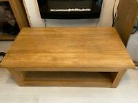 Oak furniture land coffee table and end tables x2 £150