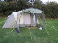 Outwell Oakland XL, groundsheet, side extension and carpet