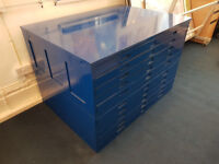 Plan Chest/Architect Drawers - 10 Drawers.
