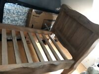 Large rustic Wooden single bed