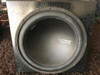15 inch vibe sub in original box - 1800 watts