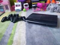 PS3 Sony Playstation 3 Super Slim 500GB | works perfectly | With 3 controllers