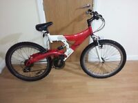 mountain bike with 26 wheel size and full suspention